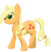 Wet Maned Applejack by kittyhawk-contrail