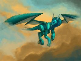 005 - Old - Dragon in Flight by Athey