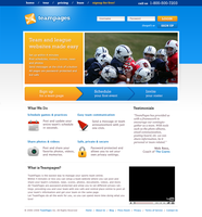 Teampages website proposal by pixelosion