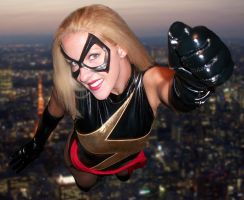 Ms. Marvel Flight by megmurrderher