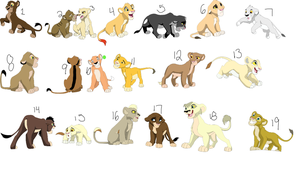 Lion Cub Adoptables 4 OPEN 1/19 by Fawns-Whisper
