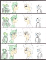 The staring contest pt 1 by Saronicle