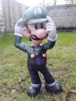 luigi papercraft template by nintendo papercraft by nandablank