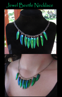 Egyptian Queen Beetle Necklace by MorRokko