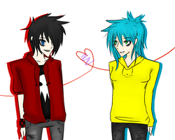 AT: Dyn0sawr and his Friend by Loveless-Zemmy