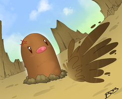 Digglet  by TheNornOnTheGo