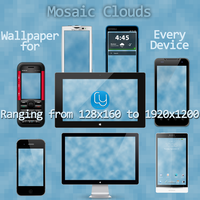 Mosaic Clouds Wallpaper for Every Device by cyogesh56