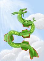 Rayquaza- King of the Skies by Cresselia