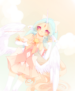 . Angelcakes + Speedpaint! . by Fawniive