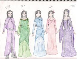 Elven Dresses 2 by Hasami-hime