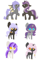 Liliana x Midnight Lilac ADOPTS CLOSED by acervine