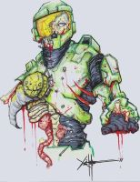 Zombie Master Chief by ChrisOzFulton