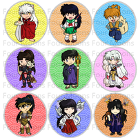 Inuyasha button set by 4moonsstudios