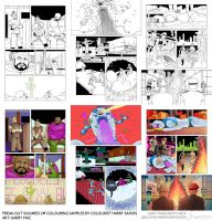Freak-Out Squares 2 colouring sample by Asaph