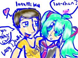 IanxMiku XD by xItsElectric