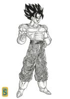Vegeto -CELL saga- by bloodsplach