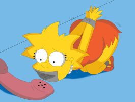 Lisa Simpson and the missed call by Reimon-Master-II