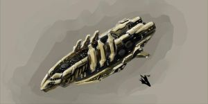 Amarr Deliverence Heavy Destroyer MK2 by novafox