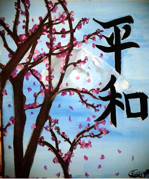 Cherry Blossom Tree by MoeArtMonster