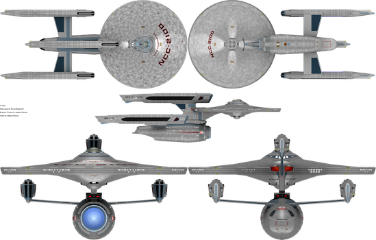 Federation Class Refit by admiral-horton