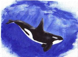 Orca for my handbag by Deslichen