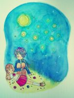I want to sleep under the stars by HieiLovesCookies