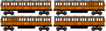 Annie and Clarabel Railway Series style V2 by sodormatchmaker