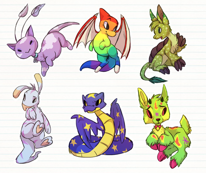 Neopets Sketchdump by Arkay9