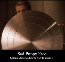 Captain America's Puppy Face by ImaDoctor96