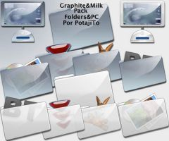 Graphite and Milk Folders Pack by PotajiTo