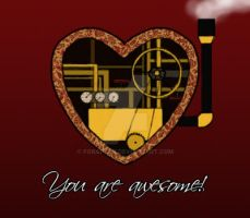 Valentine Card - You are awesome! by FGRaptor