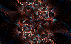 redblue swirls with blue bubbles by Andrea1981G