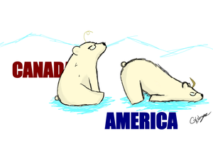 America and Canada Bears by Graceafur
