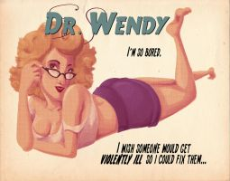 Dr. Wendy Pin Up by rosalarian