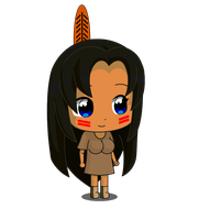 Chibi Ucogi Native American by jimmy500