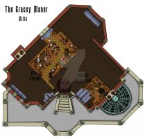 Haunted Mansion Attic Floor Plan by shadowdion