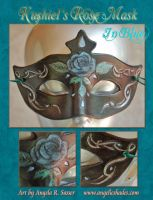 Kushiel's Rose Mask in Blue by Angelic-Artisan