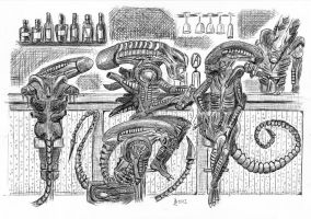 The Alien Bar by Wolflaz