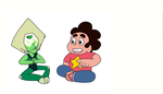 STEVEN AND PERIDOT FINGER TRICK COLORING COMMISSIO by DEVIOUS-DISCORD-RP