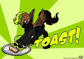 Defib Toast Is Best Toast by Launchycat