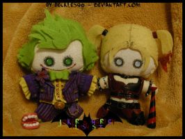 Harley and Her Joker - Plush Set by StitchedAlchemy