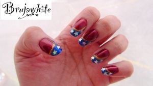 Alphabet nail art challenge: W is for Wonder Woman by Brujawhite