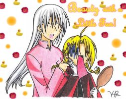 Ayame and Ed :.Beauty Love.: by Heza-chan