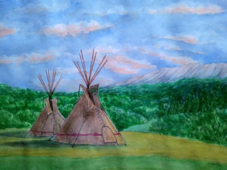 Two tipi by Cancer--chan