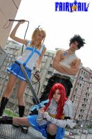 Lucy, Gray and Erza. by KNami