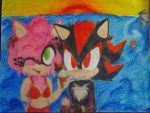 Shadow and Amy~ Beach by Mystic-Shadows