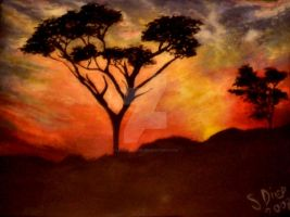 African Sunsets by LightningSue