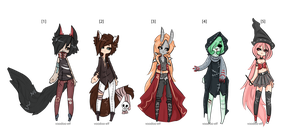 Halloween adoptables   -Taken- by Voodoo-Elf