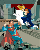Superman x Vegeto by lrslink