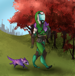 [com] a walk in the park by Aelwen
